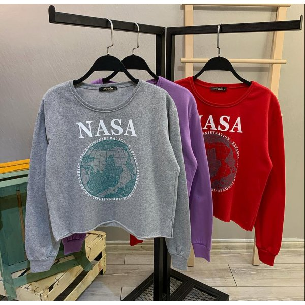 Nasa Crop Sweat